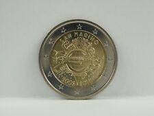 *** 2 EURO Gedenkmünze SAN MARINO 2012 10 Jahre Euro Bargeld Münze Coin KMS ***