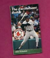 1983 BOSTON RED SOX  POCKET SCHEDULE