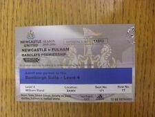 10/09/2005 billet: Newcastle-Fulham [Bamburgh suite saison 2005/2006 TI