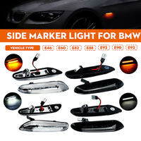 Pair LED Side Marker Light Repeater Indicator Lamps For BMW E46 E60 E81 E82
