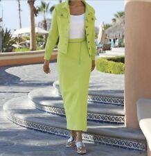Women's Business office Work Church dress stretch knit 2PC skirt set suit plus2X