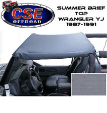 Gray Summer Brief Top for Jeep Wrangler YJ 1987-1991 13573.09 Rugged Ridge