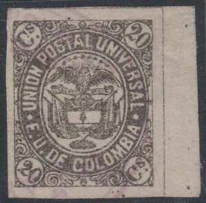 COLOMBIA 1881 Sc 108 TOP VALUE MARGINAL SINGLE USED XFINE