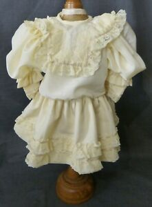 DRESS FOR ANTIQUE DOLL, DOLL CLOTHING, DOLL OUTFIT