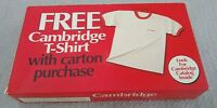 Vintage 1994 Cambridge Cigarette Promotional Pocket T-Shirt Advertising Promo