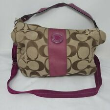 Coach D1261-F19281 Fuchsia Stripe Jacquard Bag