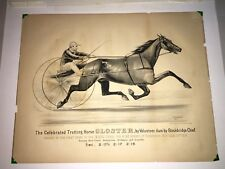 Original Currier & Ives Print Celebrated Trotting Horse Gloster Rochester NY