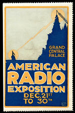 Usa Poster Stamp - 1922 American Radio Expo - New York Grand Central Palace