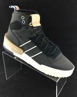 NEW Adidas Originals Rivalry RM Black Leather Boost Hi-Top CG6532 mens 8.5 RARE