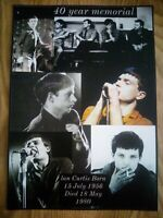 Ian Curtis /Joy Division 40 Year Memorial Montage A4 print