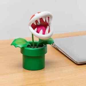 Super Mario Paladone Nintendo Piranha Plant Posable LED Lamp Light for Kids Desk