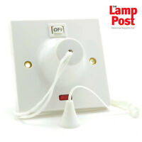 Shower Switch / Extra Pull Cord 45A 45 Amp with Neon - BG 803