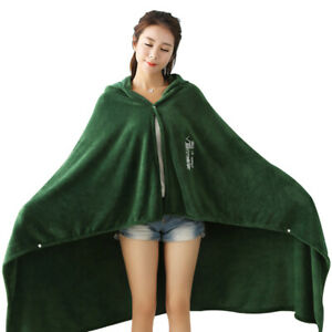 Attack on Titan Survey Corps Flannel Hoodie Cosplay Green Blanket Cloak Cape