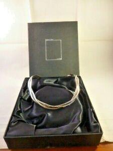 Hallmarked Haviland Nye Silver Torque Choker Necklace London 2006 Boxed 55 grams