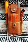 Handmade Amish Logger Leather felling falling wedge Timber cutter Pouch w/tools