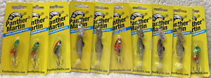 (10) Panther Martin 1/8oz In-Line Spinners Good Mix All New SEL