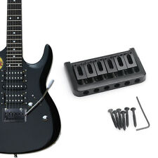 Black 6-String Fixed Hardtail Guitar Bridge for Electric Guitar Top Load