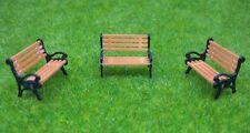 5 PCS N Gauge Park / Station Benches Seats 1:150