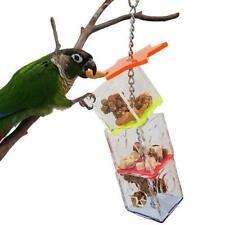 Parrot Bite Toy Acrylic Hexagonal Multi-layer Foraging Box Bowl Bird Food Rack