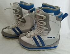 "Roxy ""Track"" Snowboard Snow Boots Gray Blue Womans Size 8"