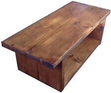 RUSTIC CHUNKY SOLID WOOD HANDMADE COFFEE TABLE , TV STAND, LIVING ROOM