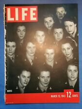 Gyroscope, WAACS & WAVES, Barney Ross, Roosevelt, Life Magazine Mar 15, 1943
