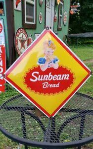 SUNBEAM BREAD porcelain metal sign enamel advertising man cave garage store