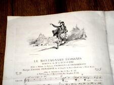 le montagnard écossais romance piano chant 1840 Panseron