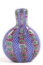 VTG Murano Venetian Italian Art Glass Bud Vase Mid Century Millefiori Latticino