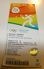 old ticket Olympic 2016 Rio Table tennis 15.08 J27 Japan Germany Semifinal men's