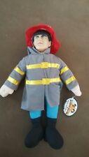 "The Three Stooges Moe Plush 12 "" Doll ~ Fireman Moe ~ 2001 ~New w/Tag"