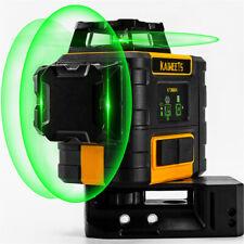 Niveau Laser Vert 3 x 360 , Kaiweets ProLaser Niveau Automatique 2 batteries rec