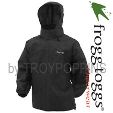 FROGG TOGGS RAIN GEAR-PA63123-01 BLACK PRO ACTION MENS JACKET-FISHING BEACH WET