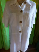 XL belle veste blanche en lin  femme ou longue mariniére