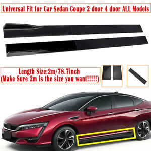 Extensions Set 2M Side Skirts Panel For Honda Civic Accord Coupe Sedan 9TH 10TH