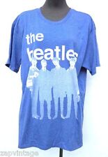New Mens XL Blue THE BEATLES Band Soft Cotton T-SHIRT