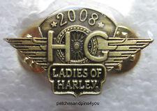 Harley Davidson HOG Ladies Of Harley 2008 Renewal Pin **NEW** FREE U.K. POSTAGE!