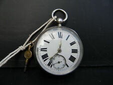 Silver Cased keywind pocketwatch fusse mouvement