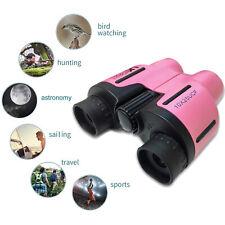 Binoculars 10x25 Pocket Handbag Travel Compact Powerful Lightweight UK - Pink