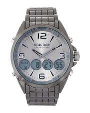 REACTION KENNETH COLE GUNMETAL,CHRONO,LRG 2-TIME ANALOG,DIGITAL WATCH RK50177003