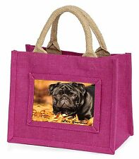 Black Pug 'Love You Dad' Little Girls Small Pink Shopping Bag Christm, DAD-82BMP