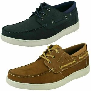 Mens Hush Puppies Casual Lace Up Summer Boat Deck Shoe Liam HPM2000-98