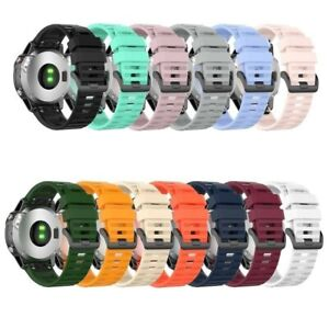For Garmin Fenix 6X/6X Pro/5X/5X Plus/3 Quick Fit Silicone Watch Band Strap 26mm