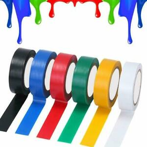 Coloured  PVC Tape Electrical PVC Insulating Insulation19mm Wide Cable 20 METRES