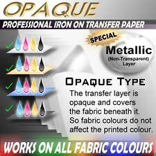 [OM] 6 sheets METALLIC FOIL PRINT IRON ON HEAT TRANSFER INKJET PRINTER PAPER