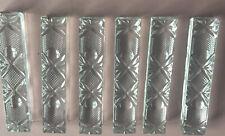 More details for six ornate glass knife rests