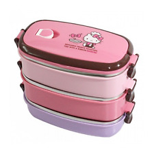 Hello Kitty Stainless Steel Bento Lunch Box Set 3 containers