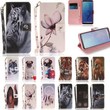 Magnetic Flip stand Card Leather wallet + TPU Case Cover For Samsung S9 Various