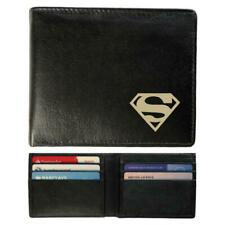 Slimline Real Leather Wallet - Superman S Design
