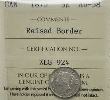 1870 RB Canada 5 cents ICCS graded AU-58